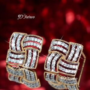 18K-YELLOW-GOLD-GF-STUD-MADE-WITH-SWAROVSKI-CRYSTAL-EARRINGS-FASHION
