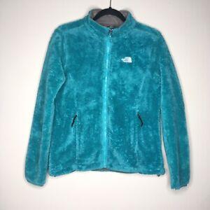 The-North-Face-Fleece-Jacket-Womens-Size-Small-Blue-Zip-Up-Fuzzy-Fleece