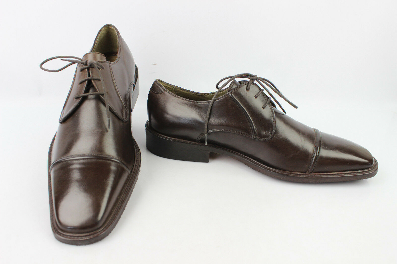 Derby shoes ZARA MAN All Brown Leather US 7 MINT
