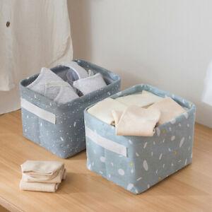 Home-Room-Fabric-Basket-Box-Storage-Linen-Cosmetic-Case-Desktop-Stationery