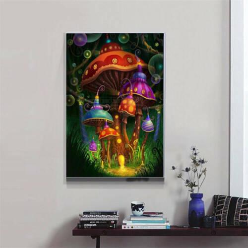Patrón de hongos Completo Diamante puntada cruzada de pintura de decoración del hogar