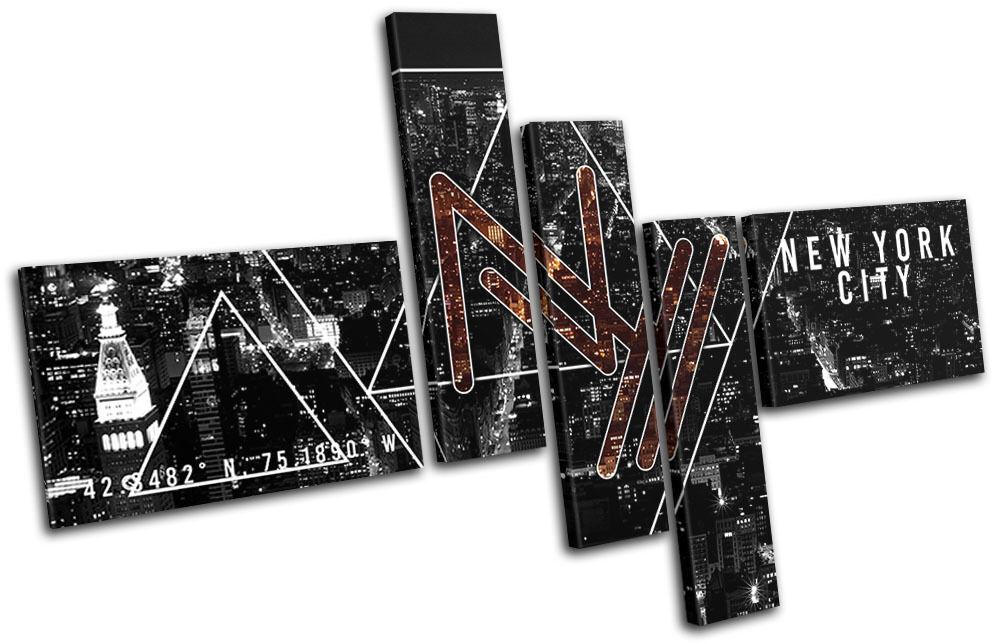 New New New York NY Typography City MULTI TELA parete arte foto stampa f3cdc2