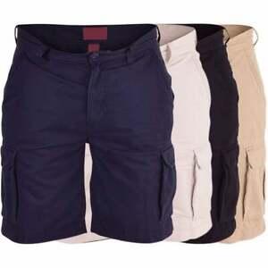 Mens-High-Quality-Combat-Shorts-Cargo-Combat-Multi-Pocket-Cotton-Knee-Length