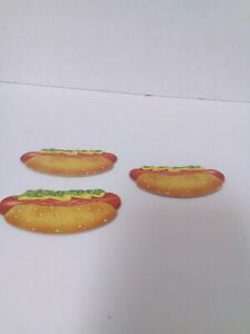 Vintage EAT AT RALPHS Milton Bradley Board Game 3 Hot Dog OEM Replacement Parts