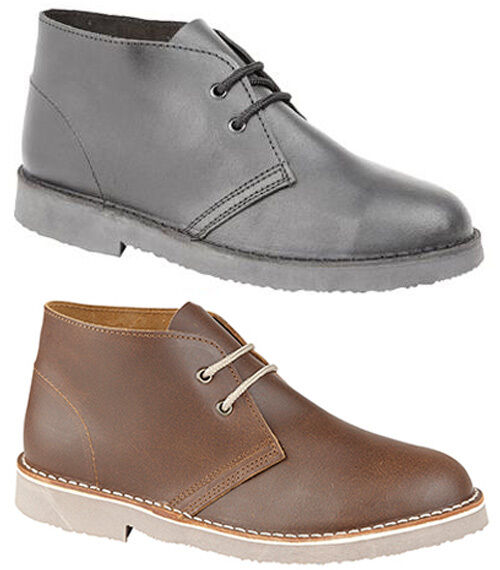 Mens New Distressed Leather Desert Boots Sizes 6 7 8 9 10 11 12