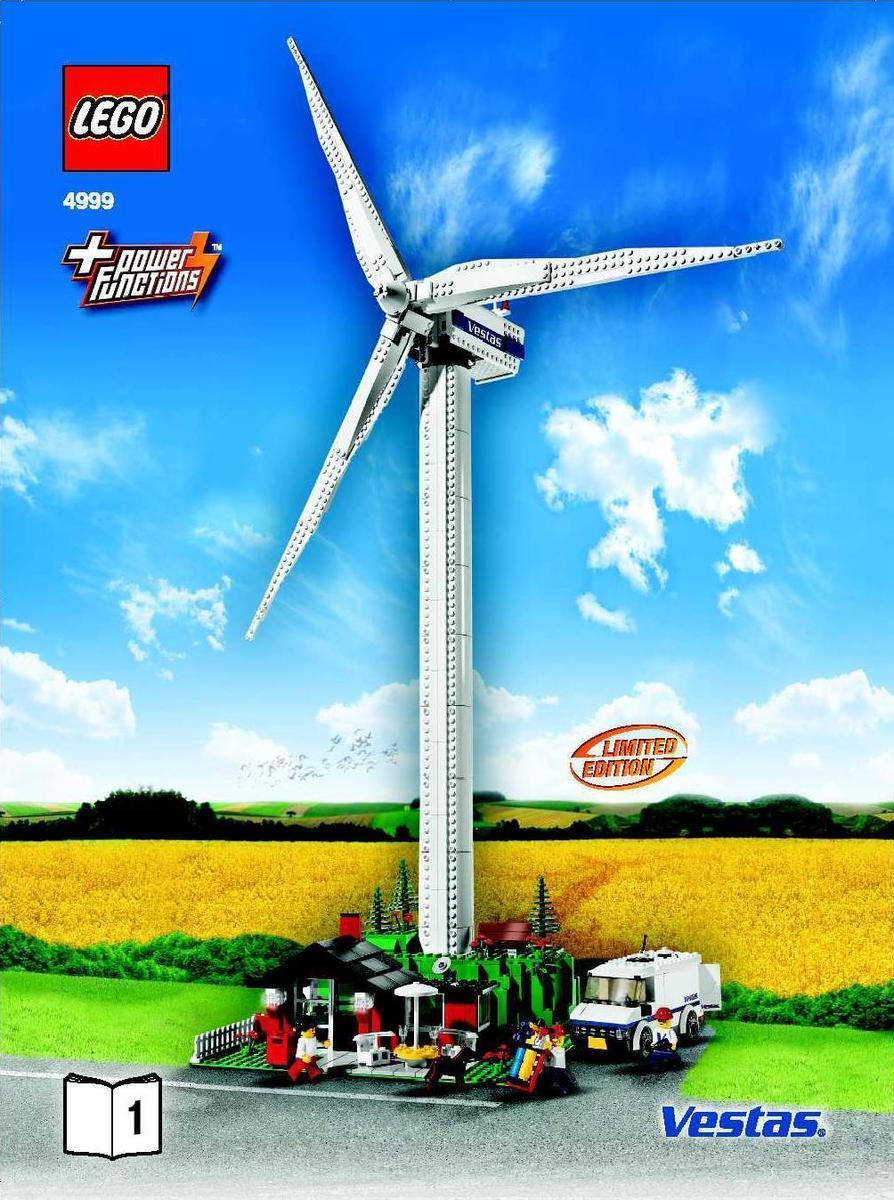 LEGO Ville 4999 Wind Turbine-Vestas Promotionnel neuf scellé