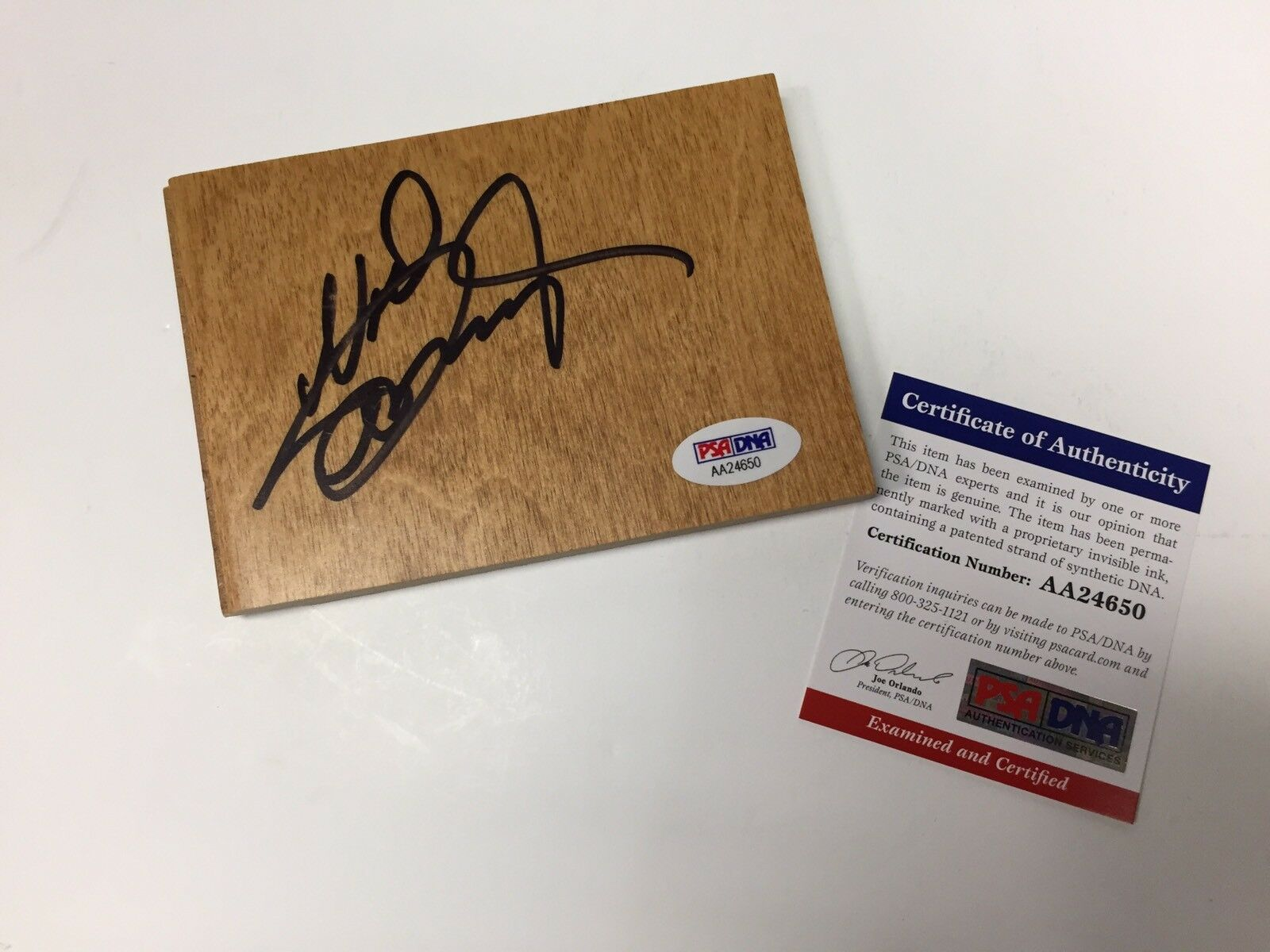 Neal McDonough Signed Floor Board *Legends Of Tomorrow *Arrow *Star Trek PSA