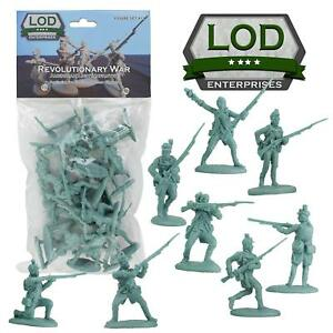 BARZSO-LOD-Revolutionary-War-US-Light-Infantry-16-Plastic-Figures-FREE-SHIP