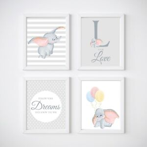 Elephant Nursery Decor Dumbo Wall