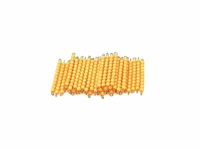 NEW Montessori Mathematics Material - 45 Golden Bead Bar of Ten