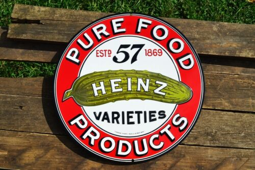 Heinz Pure Food Products Embossed Retro Tin Metal Sign Vintage Ketchup 57
