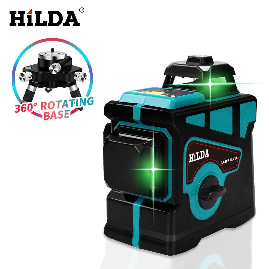 Niveau Laser HILDA 12 lignes niveau 3D auto-nivelant 360 croix horizontale et