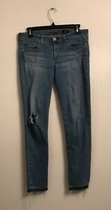 AG-Adriano-Goldschmied-The-Stevie-Ankle-Frayed-Jeans-Size-26R