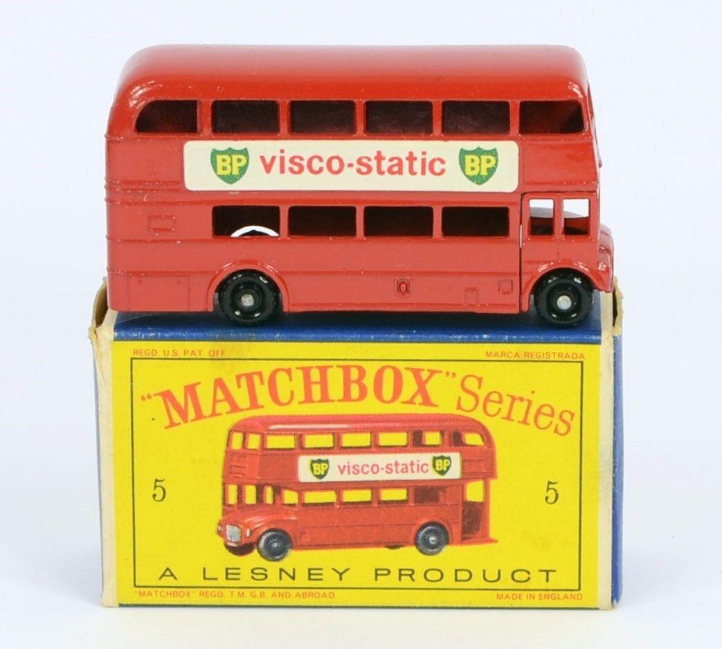 Rare variation Matchbox 5 C Routemaster Bus agua peptonada tamponada muy casi nuevo y sin usar en caja