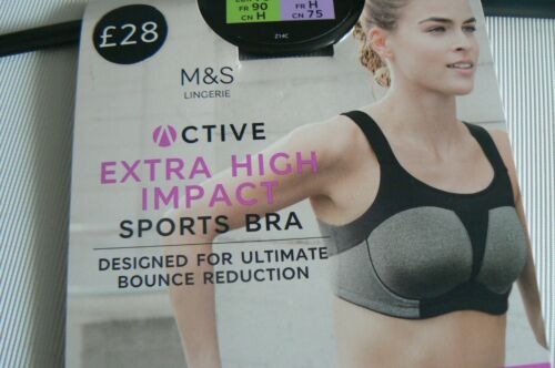 M/&S Extra High Impact Bounce Reduction Sports Bra Size 32C D F 38C 40D £28