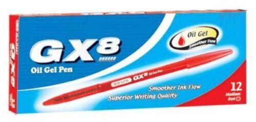 GX-8 Red Oil-Gel Ink Pen 12pc