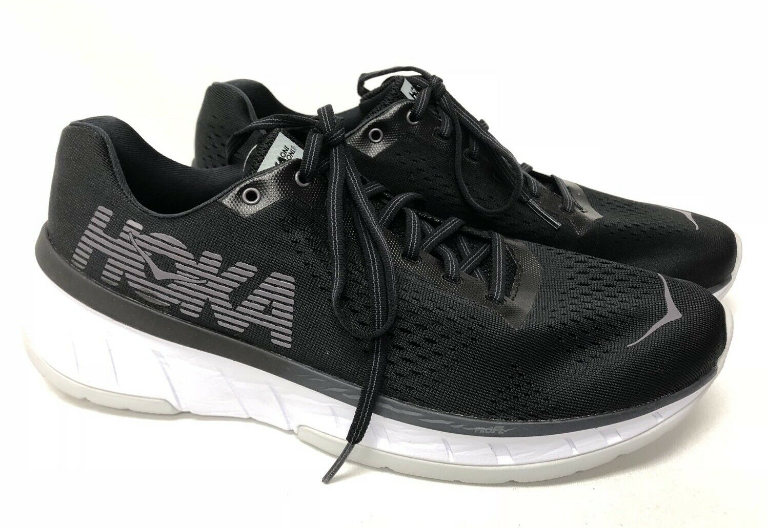 Hoka One One Cavu Black   White 1019282 Tennis Running shoes Lace Up Athletic