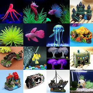 verschiedene k nstlich see tiere aquarium ornament aquarium unterwasser deko ebay. Black Bedroom Furniture Sets. Home Design Ideas