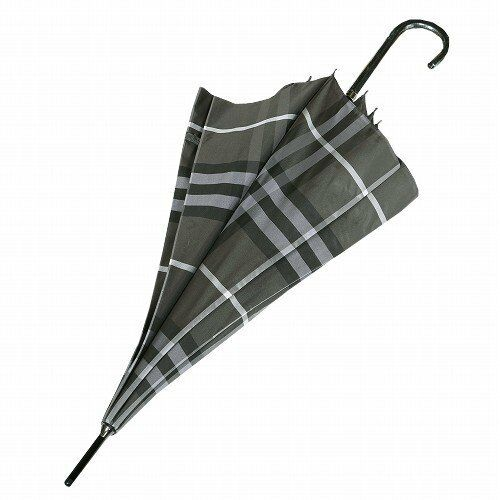 7fca7d061 Burberry Japan Made Ltd Charcoal Grey & Black Tartan Walking Stick ...