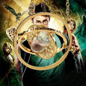 Harry-Potter-Zeitumkehrer-Kette-Hermine-Zeit-Sanduhr-Zeitumwandler-Anhaenger
