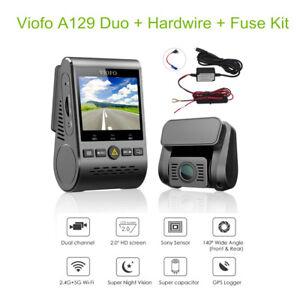 Viofo-A129-Duo-HD-1080P-30FPS-Dual-Lens-Dash-Camera-WiFi-GPS-Hardwire-Fuse-Kit