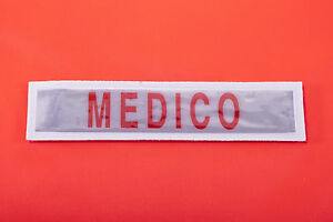 PATCH-SCUDETTO-TOPPA-RIFRANGENTE-QUALIFICA-MEDICO-GRANDE-SU-STRAPPO-ROSSO