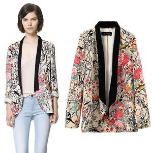 Vintage-Retro-Floral-Europe-Loose-Style-Kimono-Cardigan-Lady-Jacket-Coat-SML