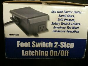ON-OFF Power maintained Foot Switch for hands free operation of power tools NEW