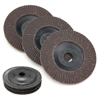 """4/"""" 100mm 120 240 320 Grit Angle Grinder Flap Disc Sanding Wheel Hole Rotary"""