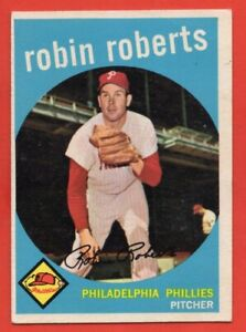1959 Topps #352 Robin Roberts EX-EXMINT HOF Philadelphia Phillies FREE SHIPPING