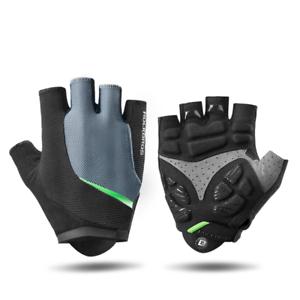Half Finger Gel Cycling Gloves Elastic MTB Anti-Shock Breathable Sport Gloves