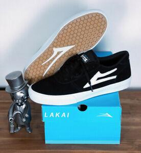 Lakai Skateboard Footwear Skate Schuhe Shoes Manchester Black Suede 8/41