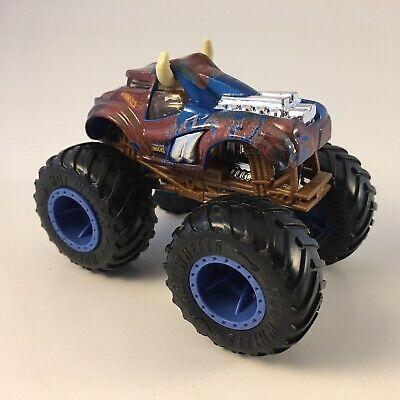 Hot Wheels Monster Jam Steer Clear 1 64 Monster Truck Blue Camo White Horns Ebay