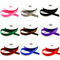 Full Reel 22 Metres Satin Ribbon 10mm 20mm In Multiple Colours Sold In Rolls