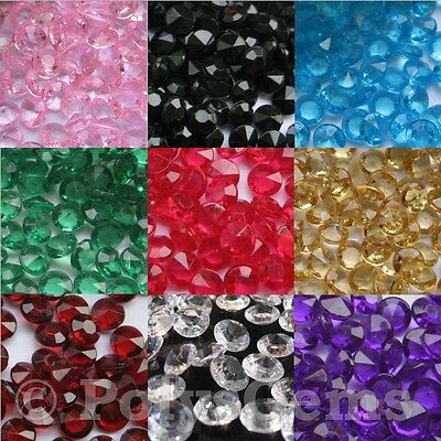 10mm WEDDING DECORATION Table Scatter Crystals ACRYLIC DIAMONDS CONFETTI
