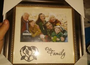 Nib Kohls Malden Brand Our Family 4x6 Picture Frame Family Tree