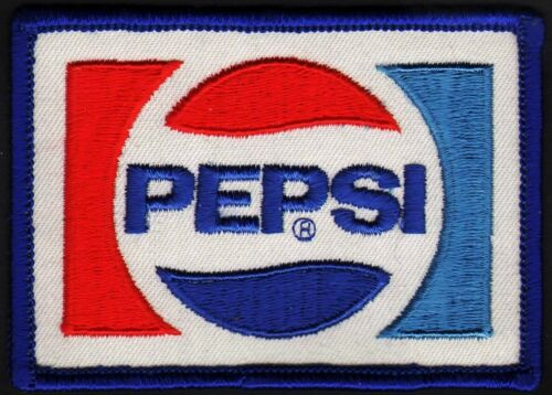 Vintage uniform patch PEPSI soda pop bookend logo medium new old stock n-mint+