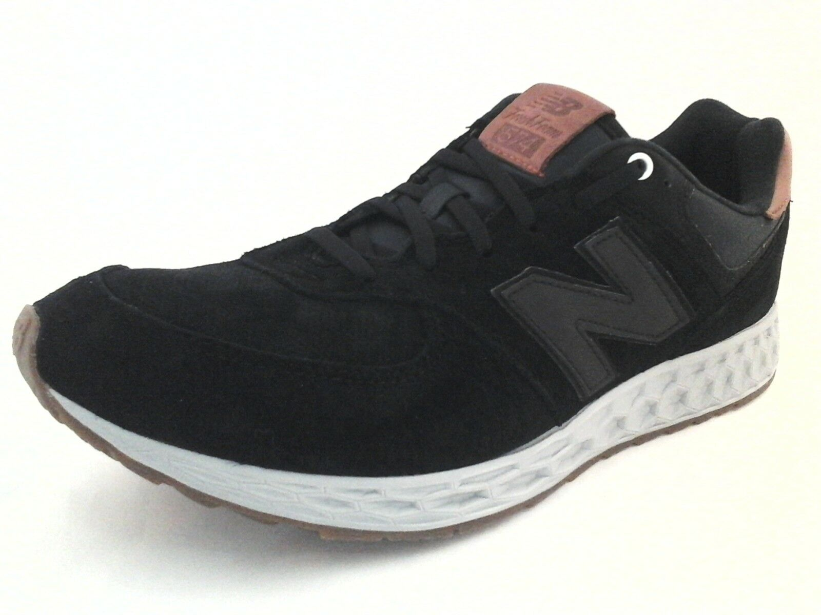 NEW BALANCE 574 Fresh Foam Mens Running shoes Black Suede Brown US 12 46.5  149