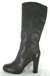 Simply-Vera-Wang-Boots-9-5-Brie-Knee-High-Brown-Leather-High-Heel-Platform-NWOB