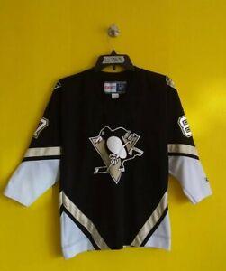PITTSBURGH PENGUINS #87 SIDNEY CROSBY CCM NHL HOCKEY JERSEY BOYS - L/XL