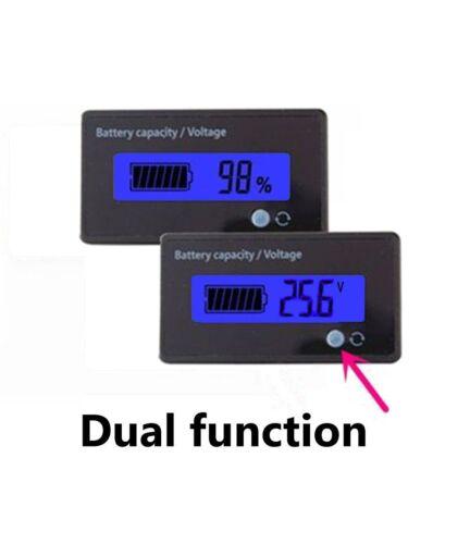 24V LCD Battery Fuel Gauge Indicator Multifunctional Battery Capacity Monitor