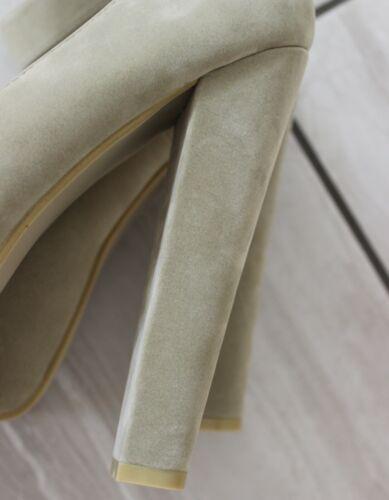 Femme nue Plate-forme Dissimulée bout pointu à talon haut Cour Chaussures Tailles