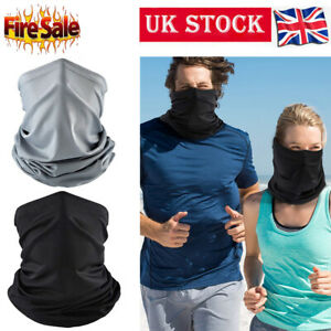 Neck Gaiter Bandana Headband Cooling Face Scarf Shield Head Cover Snood Scarves