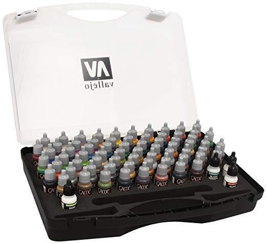 AV Vallejo Game color Box Set - 72 Paints, 3 Brushes & Case