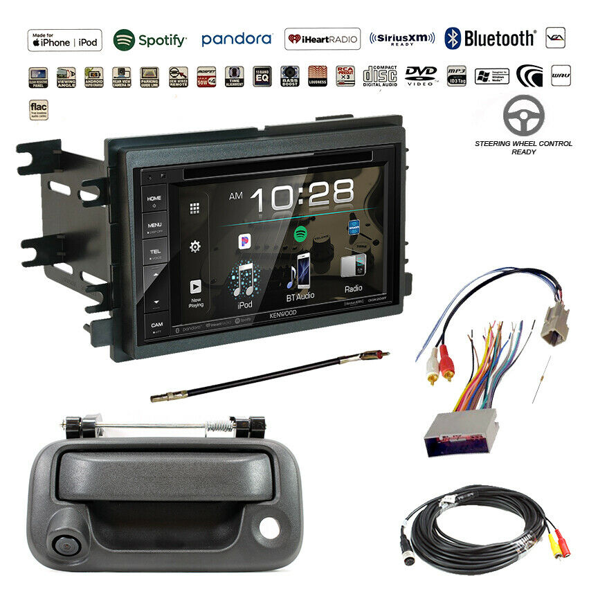Details about Kenwood Double DIN Bluetooth USB Stereo+Backup Camera+F-Series on kenwood instruction manual, kenwood ddx6019, kenwood wiring-diagram, kenwood remote control, kenwood power supply,