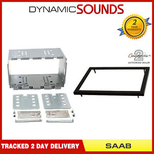 FP-32-00 Black Single Din Stereo Fascia Panel Adaptor For SAAB 9-5 1997-2005