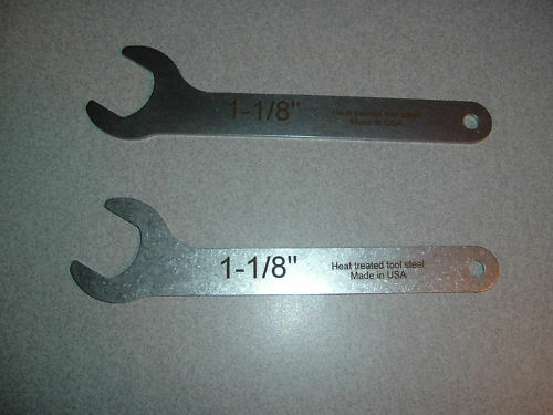 Hardened 1-1//8 Router wrenches Porter Cable 30 degree Thin wrench Reloading die