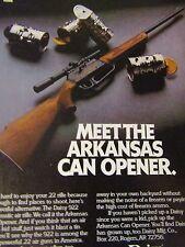 "1982 Daisy 922 Air Gun Arkansas Can Opener Original Print Ad 8.5 x 10.5"""