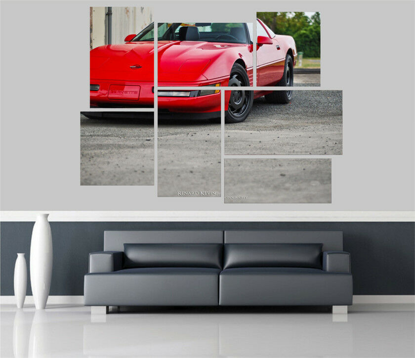 Corvette c4 zr Car Removable Self Adhesive Wall Picture Poster 1555