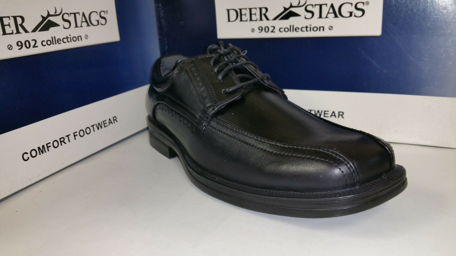 Deer Stags Men's Harris Black Htec Casual Lace up shoes Size 8-12